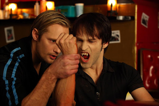 Alexander Skarsgård is Eric Northman and Stephen Moyer is Bill Compton