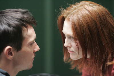 Jonathan Rhys Meyers is Adam and Julianne Moore is Dr Cara Jessup in Shelter
