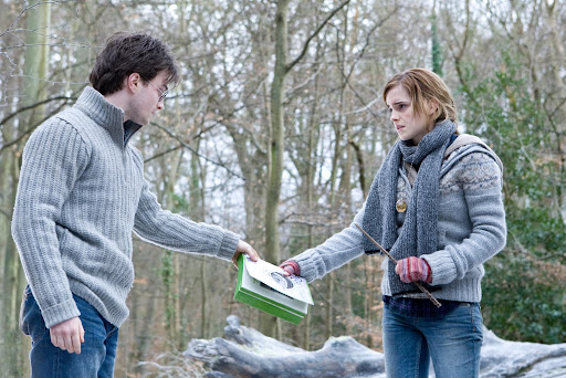 Daniel Radcliffe is Harry Potter and Emma Watson is Hermione Granger - Harry Potter and the Deathly Hallows