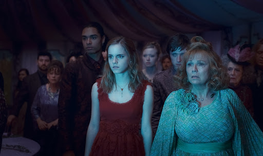 Emma Watson as Hermione Granger and Julie Walters as Molly Weasley (Deathly Hallows)