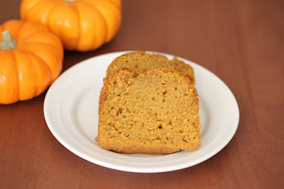 photo of slices of pumpkin bread