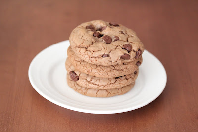 photo of a stack of Nutella chocolate chip cookies