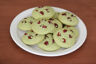 photo of a plate of Green Tea Sugar Cookies