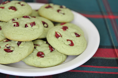 photo of a pile of Green Tea Sugar Cookies on a plate
