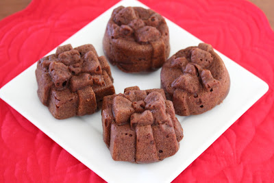 chocolate cakelets on a plate