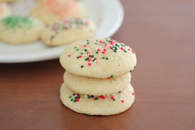 photo of a stack of sugar cookies