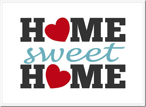 Home Sweet Home Free Printable – [ One Velvet Morning ]