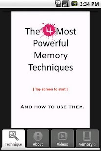 4 Powerful Memory Techniques - screenshot thumbnail