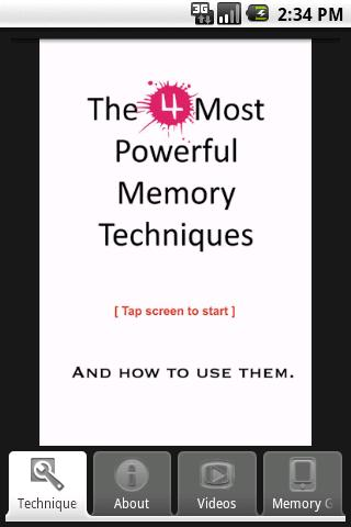 4 Powerful Memory Techniques - screenshot
