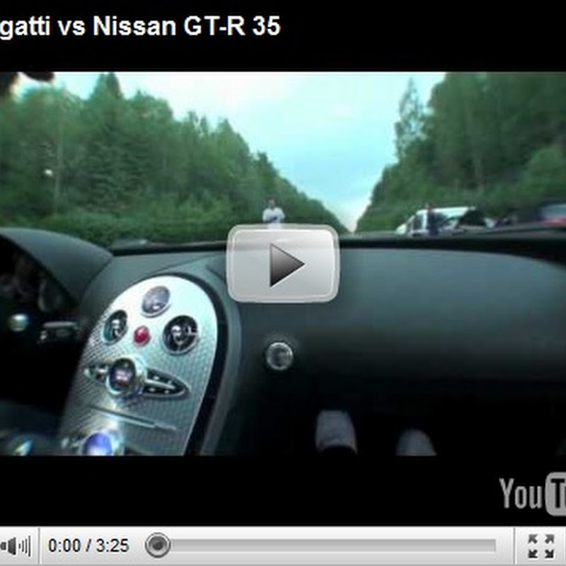 Nissan GT-R vs Bugatti Veyron in the Wet