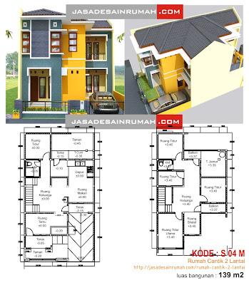download gambar desain rumah 2 lantai lengkap