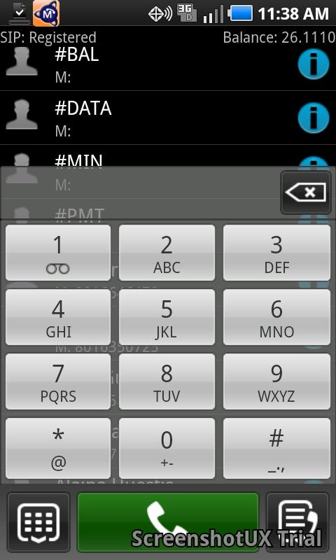 Mission-Tel Softphone - screenshot