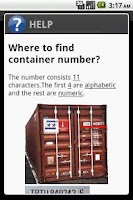Screenshot of Container Number Verifier