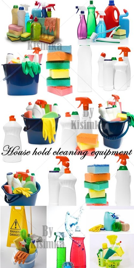 Stock Photo: House hold cleaning equipment