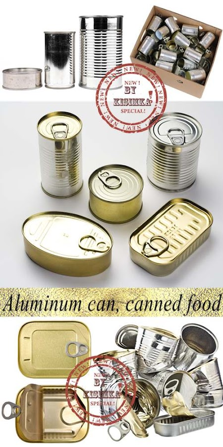 Stock Photo: Aluminum can, canned food