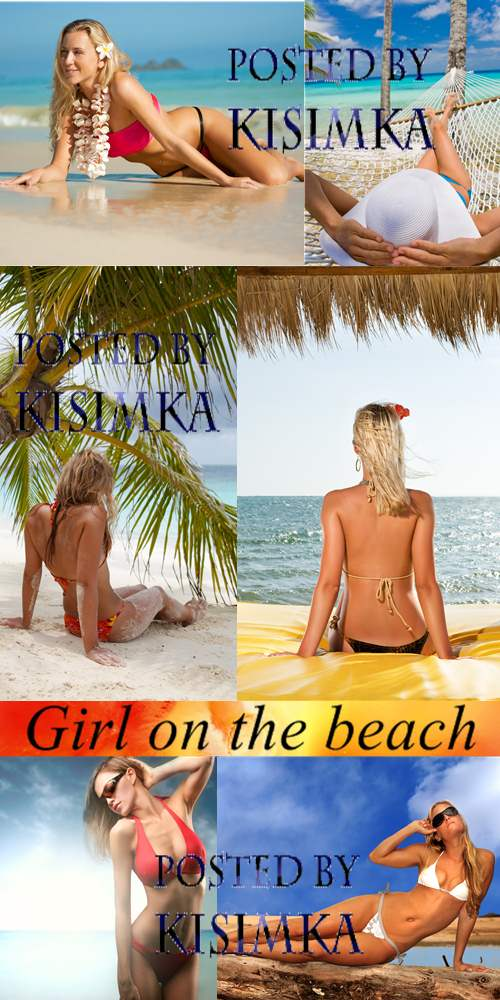 Stock Photo: Girl on the beach