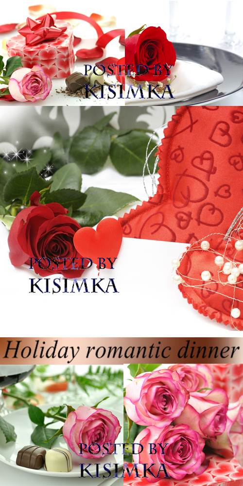 Stock Photo: Holiday romantic dinner