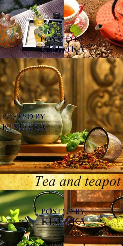Stock Photo: Tea and teapot