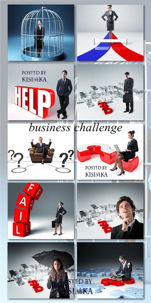 Stock Photo: Business challenge