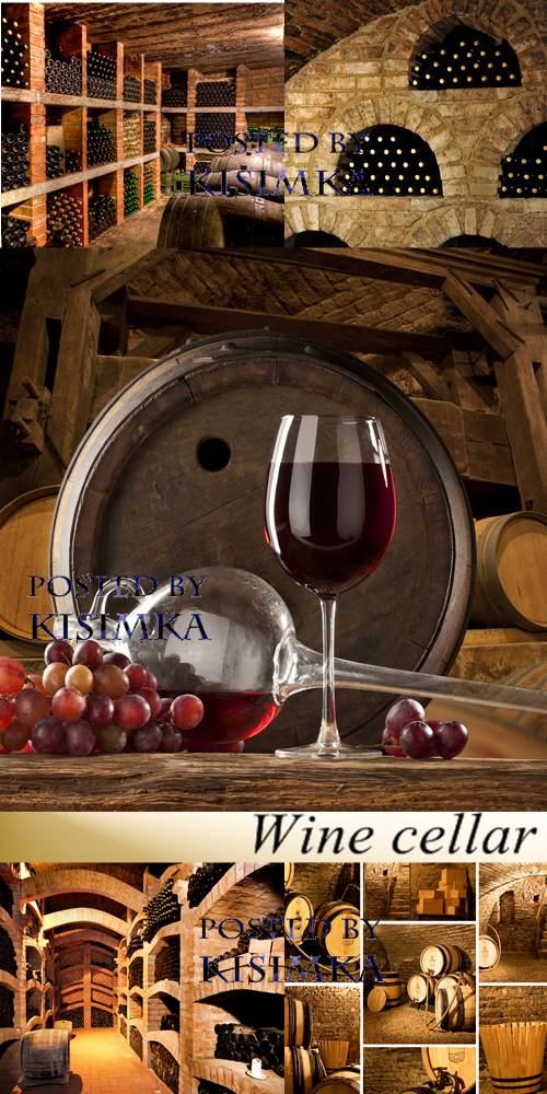 Stock Photo: Wine cellar