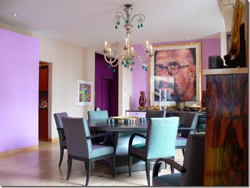 Purple Dining Room: DesignTies: Did Someone Say Purple And Turquoise??