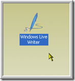 1 - Open Windows Live Writer
