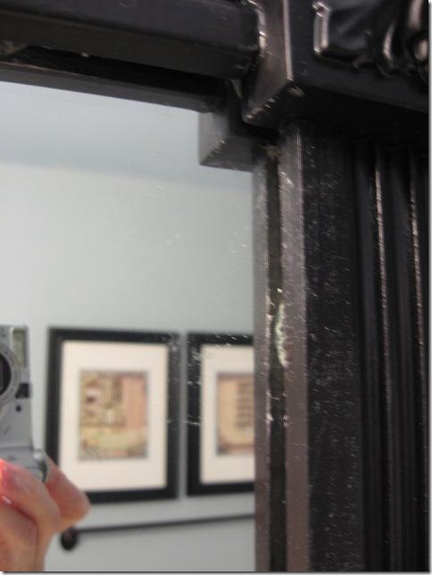 framing mirror closeup