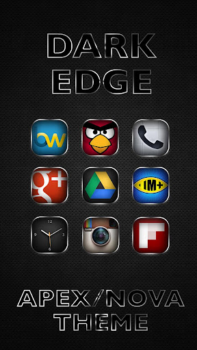 DARK EDGE APEX/NOVA THEME v1.1 apk apk