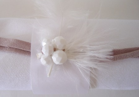 napkin rings simplemente blanco Beach House Living bridal