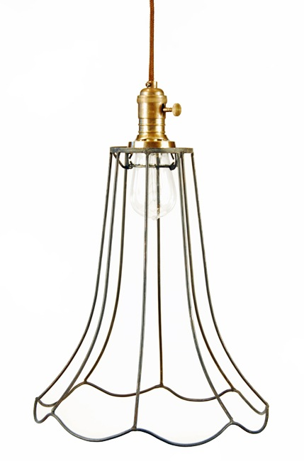 9375 wire fluted pendant lamp peddlers