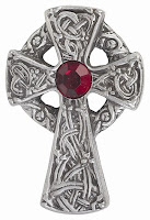 A Celtic type cross [silver cross]