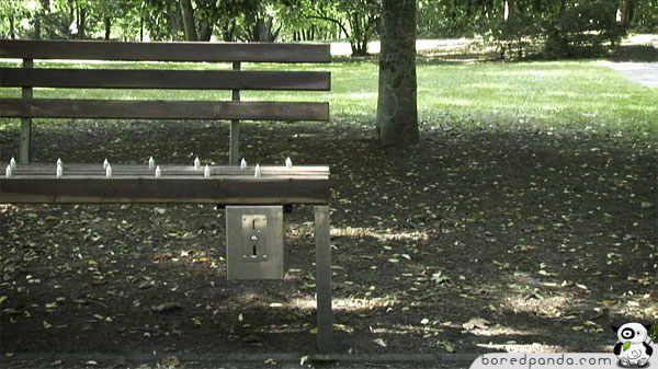 Pay Amp Sit The Private Bench Bored Panda