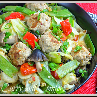 Thai Meatball and Vegetable Stir Fry.