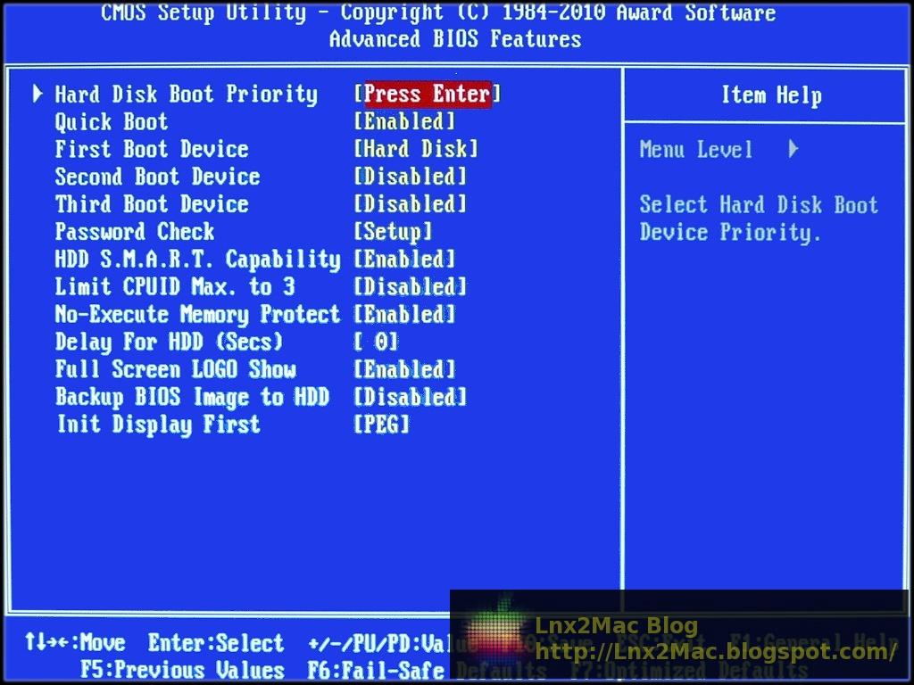 Optimal BIOS Configuration [Lnx2Mac's Blog]