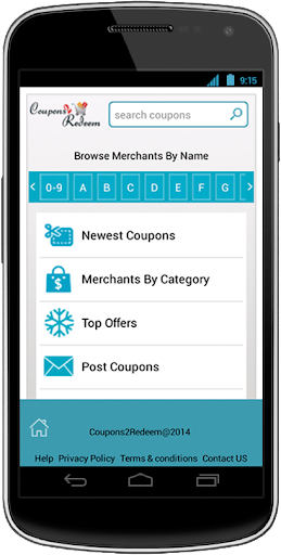 Coupons2Redeem app