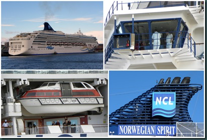 cruise ship collage