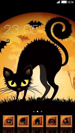 Black Cat C Launcher Theme