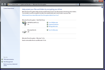 09-10-14 BitLocker To Go - 4 - BitLocker Management