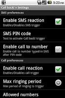 Screenshot of Call back!