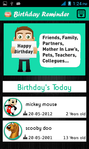Birthday Reminder - Android Apps on Google Play