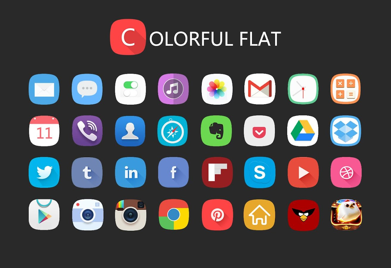 Flat Solo Launcher Theme - screenshot