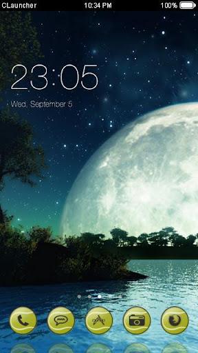 '月亮湖'手機主題——暢遊桌面