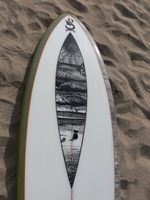 Tim Stafford Custom Surfboards - 6'8 Blunt Diamond for Olly with custom artwork