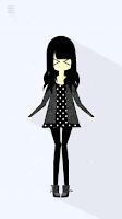 Screenshot of Lovey - Create Cute paperdolls