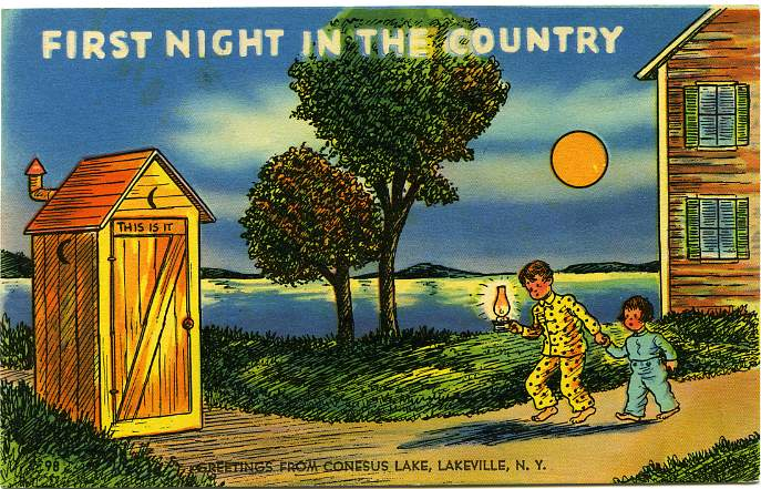 Vintage Postcard Blog: Outhouse/Country Humor