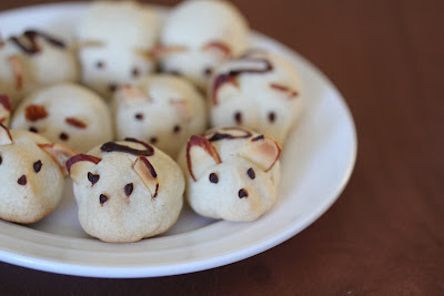 close-up photo of a plate of mice cookies
