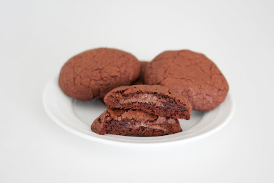 Nutella lava chocolate cookies