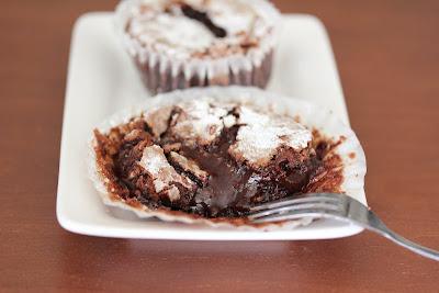 chocolate lava cake on a plate