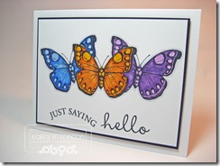 Just Saying Hello Butterflies