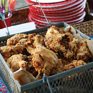 Double-Dipped Buttermilk Fried Chicken.